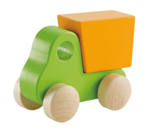 Hape E0054 - Kleiner Kipp-Laster, Holzspielzeug, grün