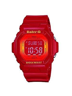 CASIO Baby-G BG-5600SA-4ER - de cuarzo, correa de resina color rojo (con alarma, luz, cronómetro)