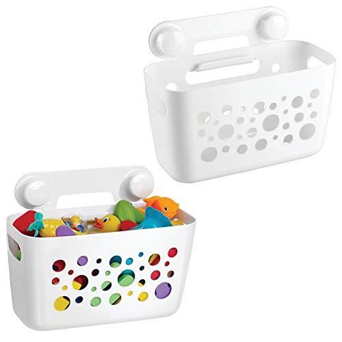 Preisvergleich Produktbild mDesign 2er-Set Duschkorb für Kinder zum Hängen – die ideale Duschablage für Shampoo, Schwämme, Rasierer und sonstiges Duschzubehör aus robustem Kunststoff – ohne Bohren zu montieren