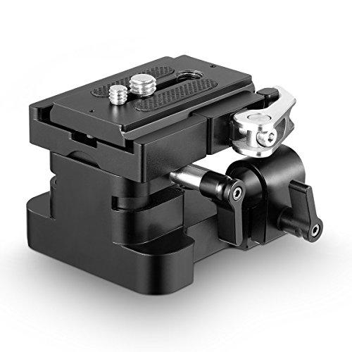 SMALLRIG Basisplatte mit Quick Release Platte, Rod Höhenverstellbare Kamerastativ Montageplatte für Universal 15mm LWS - 2092