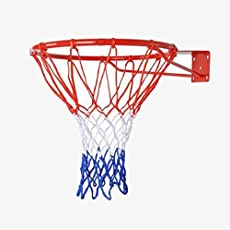Shiv Shakti Tricolor Basketball Net, Sports Basketball Net for Practice Pack of 2 (Without Ring)