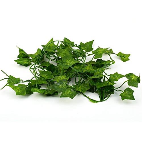 Swiftswan 79 Zoll Gefälschte Ivy Künstliche Ivy Blätter Grün Girlanden Hängen Hochzeitsgesellschaft Garten Wanddekoration