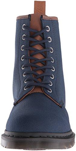 Dr.Martens Mens Waxy New Laredo Canvas Boots Blau