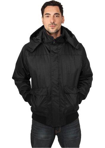 URBAN CLASSICS Heavy Hooded Winter Jacket, black Black