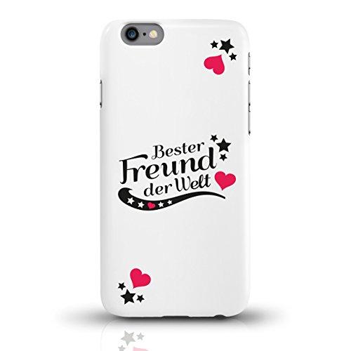 """JUNIWORDS Handyhüllen Slim Case für iPhone 6 / 6s mit Schriftzug """"Bester Freund der Welt"""" - ideales Weihnachtsgeschenk für den Freund - Motiv 2 - Handyhülle, Handycase, Handyschale, Schutzhülle für Ih motiv 2"""