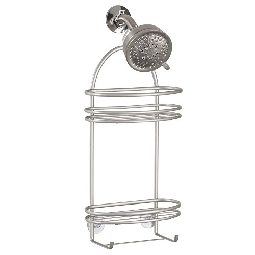 InterDesign Axis Bathroom Shower Caddy for Shampoo, Conditioner, Soap, Satin