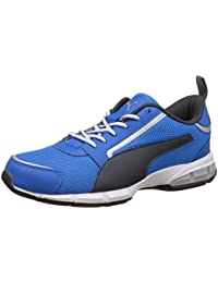 Puma Men's Triton Idp Electric Blue Lemonade, Dark Shadow and Puma White Running Shoes - 9 UK/India (43 EU)(19025705)