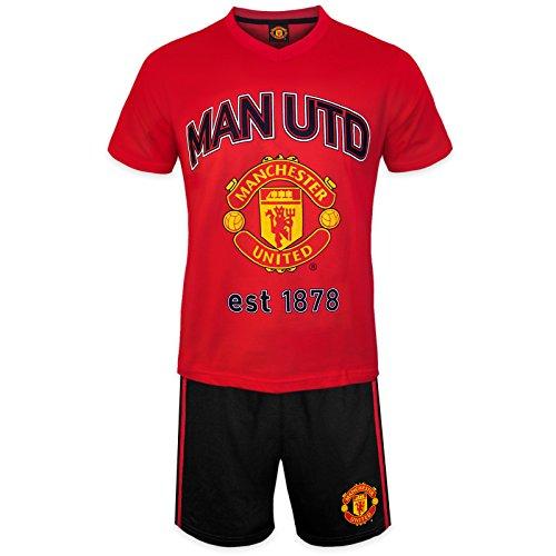 Manchester United FC officiel - Ensemble de pyjama court thème football - homme - XL
