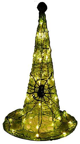 Hexenhut 59 cm 50 LED als Halloween Deko für Garten oder Fenster