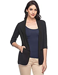 Stop by Shoppers Stop Womens Shawl Lapel Solid Jacket