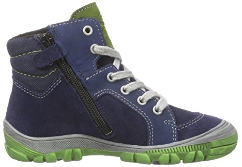 Richter Kinderschuhe Linz, Jungen Hohe Sneakers Blau (atlantic/cactus  7201)