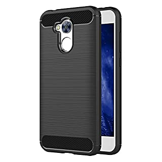 Honor 6A Hülle, AICEK Schwarz Silikon Handyhülle für Huawei Honor 6A Schutzhülle Karbon Optik Soft Case (5,0 Zoll)