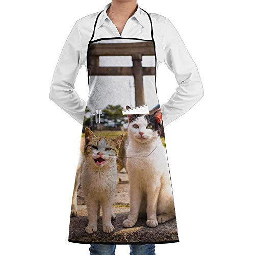 Chef Apron with Pockets Five Cats Kitten Cooking Apron Home Kitchen Cooking Pinafore Black Apron