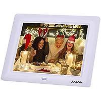 Cornice Foto Digitali Andoer 7 '' HD TFT-LCD con Musica e Film MP3 / MP4 / Calendario / Sveglia Regalo di Natale con Remote Desktop