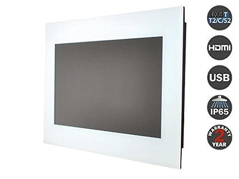 """26 """"(DVB-T / T2) mit Smart Kit Badezimmer TV Wasserdicht TV Spiegel TV (wei?en Rahmen.)"""