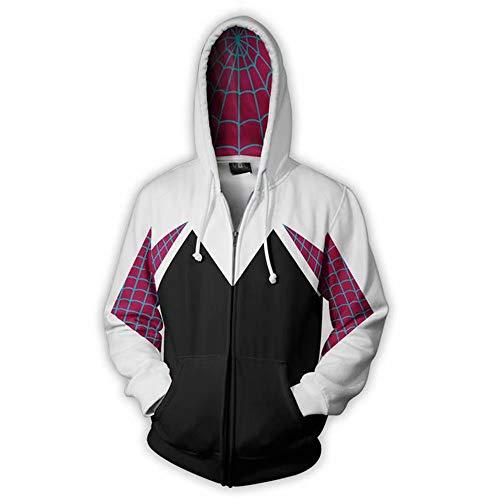 qingning Spider Mantel Pullover GwensSweatshirt Cosplay 3D Drucken Kaupzenpullover Plus Velvet Hoodie Shirt Geburtstag Geschenk