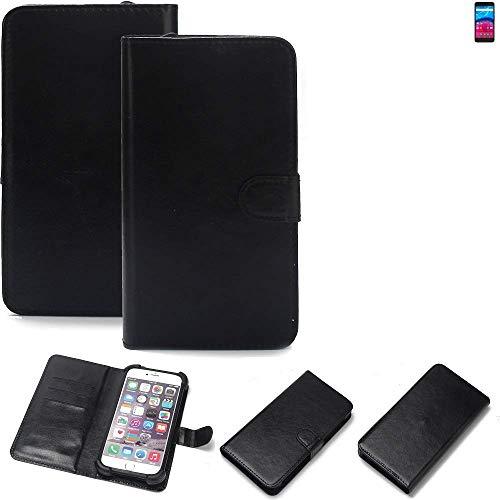 K-S-Trade 360° Wallet Case Handyhülle für Archos Core 55 4G Schutz Hülle Smartphone Flip Cover Flipstyle Tasche Schutzhülle Flipcover Slim Bumper schwarz, 1x