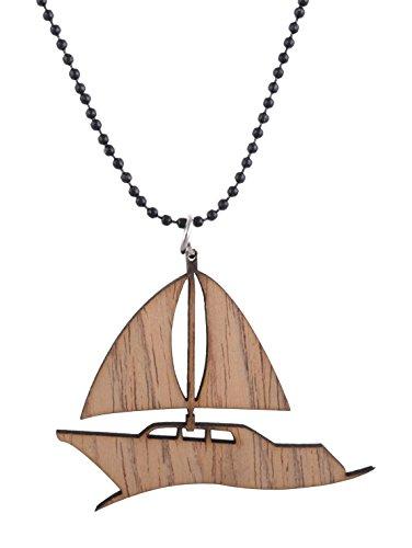 Modish Look braun Holz Unisex-Anhänger Segelboot Anhänger (Segelboot Laser)