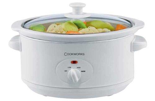 Cookworks SC-35-O 3.5L Slow Cooker - White.
