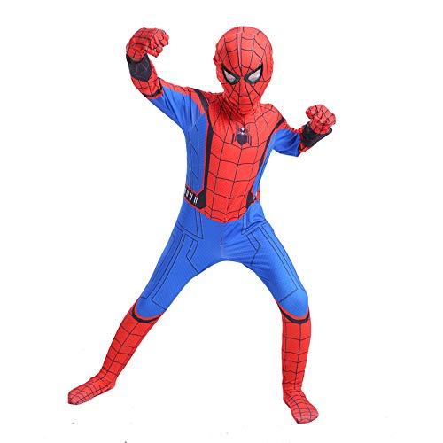 YIWANGO Kind Spiderman Kostüm Halloween 3D Digitaldruck Kostümball Party Cosplay Kostüm,Kids-S