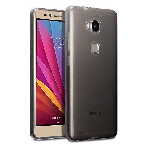 TERRAPIN Honor 5x Fall, Schutzhülle für Huawei Honor 5x, Gel, TPU - Smoke Black, Honor 5X Smoke Tpu Gel