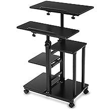 BUREI altezza regolabile in piedi scrivania per computer con tastiera vassoio in legno Dimensions: 60cm*114cm*40cm Black