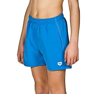arena Jungen Badeshortss Fundamentals Boxer (Schnelltrocknend, Seitentaschen, Kordelzug, Weiches Material), Turquoise-White (81), 140