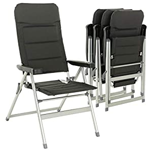 Nexos 4er Set Premium Klappstuhl Relax-Stuhl Campingstuhl Klappsessel – für Garten Terrasse Balkon – klappbarer…
