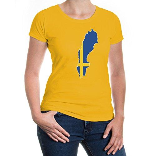 buXsbaum® Girlie T-Shirt Schweden-Shape Sunflower-z-direct