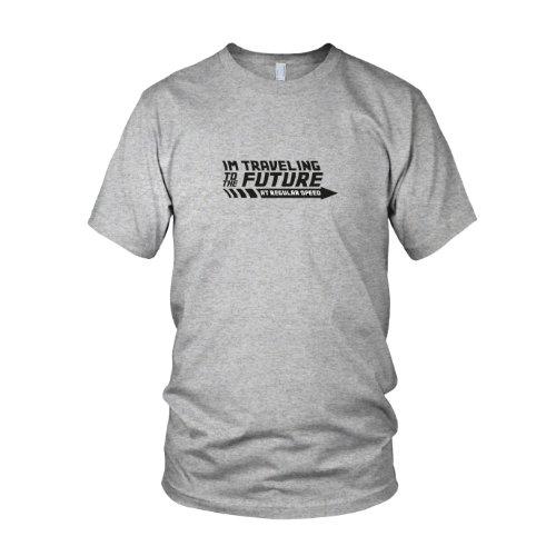 BTTF: Regular Speed - Herren T-Shirt Grau Meliert