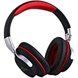 Mixcder ShareMe Cascos Profesionales Estéreo Inalámbricos Bluetooth 4.1 Cascos Plegables de Alta Calidad Manos Libres con Micrófono Incorporado Auriculares Recargables (Negro y Rojo)