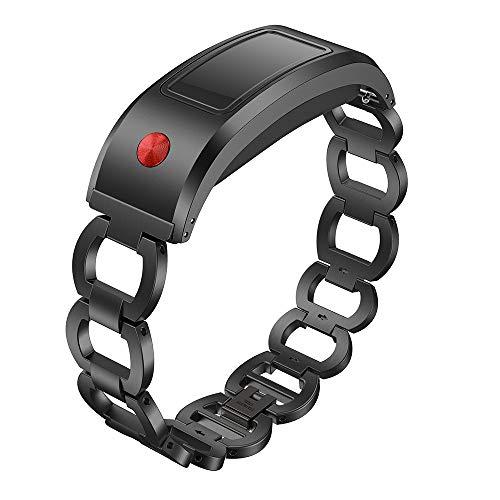 Preisvergleich Produktbild MMLC Garmin Vivofit Solid Edelstahl Zubehör Uhrenarmband Strap Metallbänder (Black)