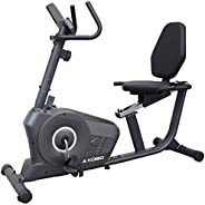 Kobo RB-1 Magnetic Recumbent Exercise Bike for Fitness with Adjustable Seatmagnetic Resistancehand Pulse and M