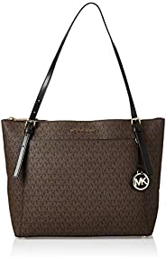 MICHAEL KORS Womens Large Ew Tz Tote Bag, Brown/Black - 30F9GV6T9B