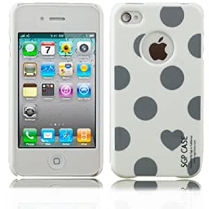 Ultra Thin Spots Series SGP Case Cover for iPhone 4 Dark Grey