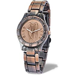 Ladies Irish Decimal Two Penny Coin Watch in Bronze Style