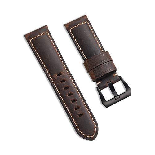 Vintage à 24 mm Bracelet de Montre Watchbands Faite à la Main en Cuir en Acier Boucle Pre-v Style Band CHIMAERA