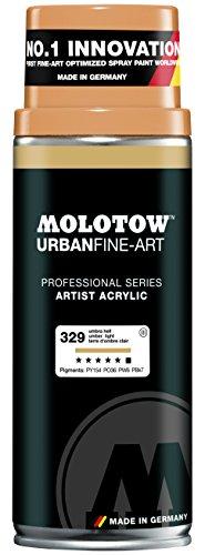 Spray Paint Light (Molotow : Urban Fine Art : Artist Acrylic Spray Paint : 400ml : Umber Light 327 : Ship By Road Only)