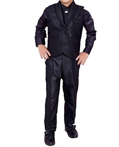 Arshia Fashions Boys Shirt Pant Waistcoat & Tie set - Party Wear...