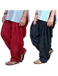 ROOLIUMS ® (Brand Factory Outlet) Punjabi Patiala Salwar Pack -2 Free size (Maroon, Black)