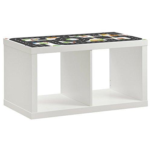 Limmaland Möbelaufkleber Straßen - passend für IKEA KALLAX Regal 2Fach - Kinderzimmer Spieltisch - Möbel Nicht inklusive