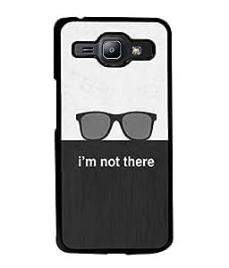 PrintVisa Designer Back Case Cover for Samsung Galaxy J1 (2015) :: Samsung Galaxy J1 4G (2015) :: Samsung Galaxy J1 4G Duos :: Samsung Galaxy J1 J100F J100Fn J100H J100H/Dd J100H/Ds J100M J100Mu (I Am Not There Design In Black And White)