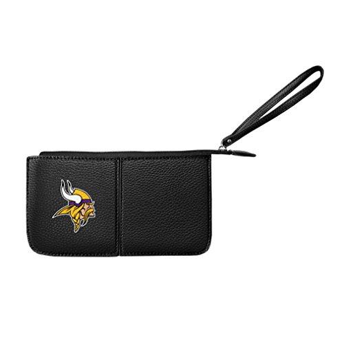Littlearth Damen NFL Minnesota Vikings Pebble Wristlet, schwarz, 20,3x 10,2x 2,5cm -