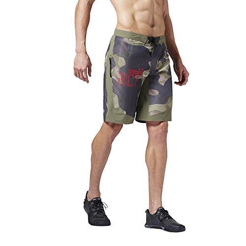 Reebok Herren Crossfit Super Nasty Tactical Camo Surfer/Board-Shorts Surfershorts, Canopy Green, 52 Zoll -