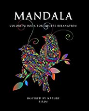 MANDALA COLORING BOOK for Adults Relaxation: Amazing Mandala ready-to-color pages with Positive Quotes for Med