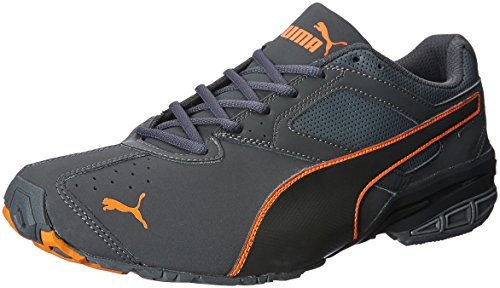 Puma Men's Tazon 6 Idp Dark Shadow, Shocking Orange and Asphalt Running Shoes