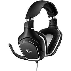 Logitech G332 Casque Gamer Filaire, Audio Stéréo, Transducteurs 50 mm, Jack Audio 3,5 mm, Micro avec Sourdine Flip-Up, Poids Léger, PC/Mac/Xbox One/PS4/Nintendo Switch - Noir/Rouge