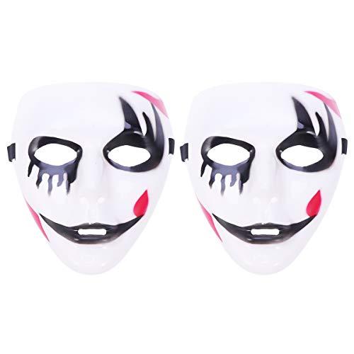 Amosfun 2pc Death Masquerade Tänzer Maske Halloween weiß lackiert Parteien Dekor Zubehör