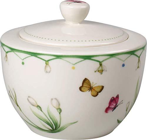 Villeroy & Boch Colourful Spring Sucrier, 300 ml, Porcelaine Premium, Blanc/Multicolore