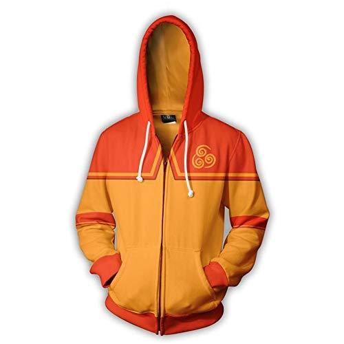 RJHWY 3D Hoodie Sweatshirt Unisex Pullover Kapuzenjacke Kleidung Mantel Reißverschluss The Last Airbender XXS
